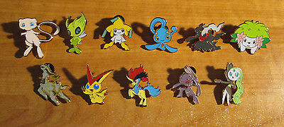 NM COMPLETE Pokemon MYTHICAL XY Promo PIN Collection Mew Manaphy Shaymin Celebi