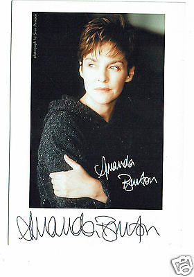 Amanda Burton Actress Silent Witness Hand signed 6 x 4 Photograph #2