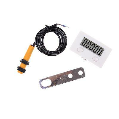 LCD Digital 0-99999 Counter 5 Digit Plus UP Gauge + Proximity Switch Sensor TO