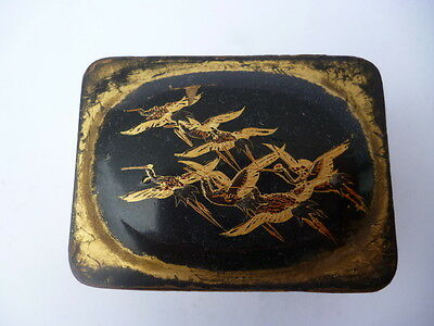 Antique Chinese or Japanese Box. Wood, Lacquer and Gold