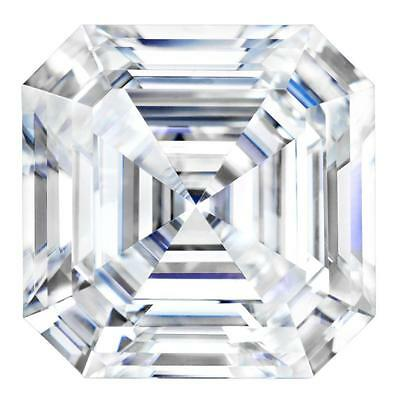 Forever One Asscher 8mm 2.2ct DEF Certified Charles and Colvard