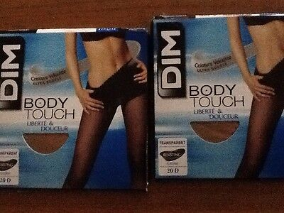lot de 2 collants DIM  BODY TOUCH TAILLE 3 NEUF