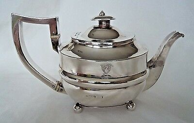 Georgian London 1816 Solid / Sterling Silver Tea Pot