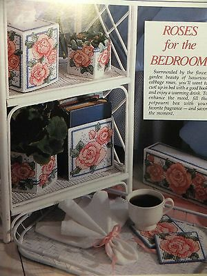 Roses for the Bedroom Topper / Coasters / Holder Pattern(s) in Plastic Canvas