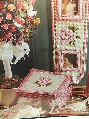 Antique Roses Trinket Bos and Frame Pattern(s) in Plastic Canvas