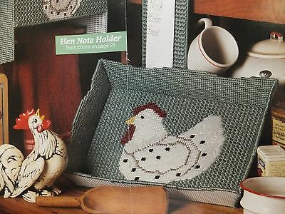 Speckled Hens Kitchen Holders / Tray / Set Pattern(s) in Plastic Canvas