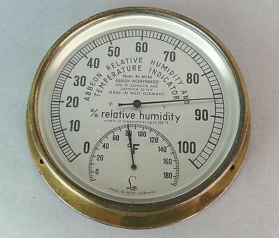 """Vintage West Germany Made """"Abbeon"""" Humidity and Temperature Indicator"""