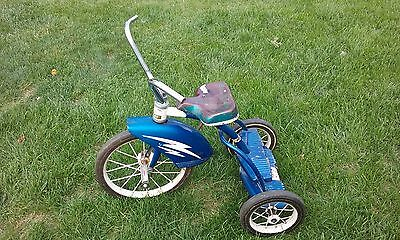 Vintage Murray 2-Step 1950s/1960s Original Metallic Blue Tricycle Trike-Crown