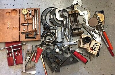 HUGE Machinist Lot Starrett Inside Outside Micrometer Dial Indicator Caliper X18
