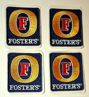 8 Vintage Australian Fosters Brewing Beer Distributor Cloth Patch 1980s NOS New