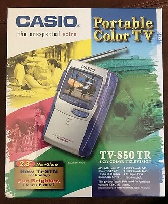 New In Sealed Package Casio TV-850 Handheld 2.3 Inch LCD Television