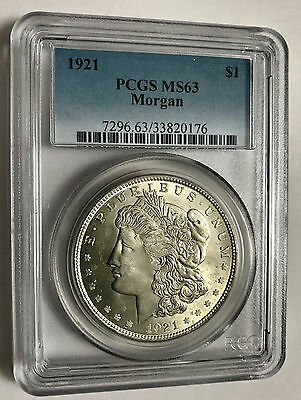 1921  Morgan Dollar - PCGS MS-63