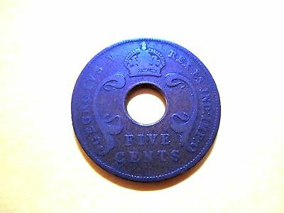 British East Africa 5 Cents 1924 Kenya Great Britain (99 cents shipping)