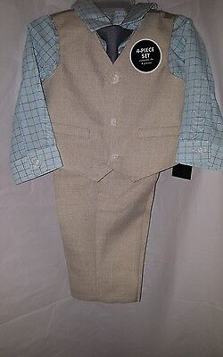 Boy's Suit Size 5T 5 Toddler▪4 pc Complete Set▪Dress Shirt▪Tie▪Dress Pants▪Vest▪