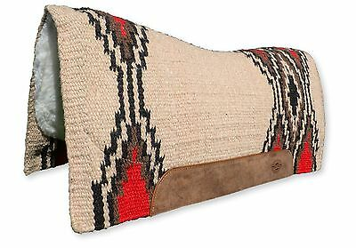 Tan Contoured Western Thick Padded Horse Saddle Blanket Pad NZ Wool