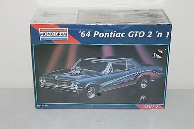 1964 Pontiac Gto 2 N 1 Monogram 1/24 Model Kit