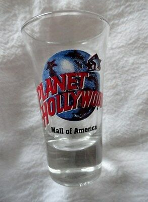 Planet Hollywood Shot Glass From Mall Of America - With Earth
