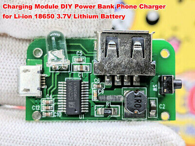 5V USB 3.7V Lithium Li-ion 18650 Battery Charger Charging Module DIY Power Bank