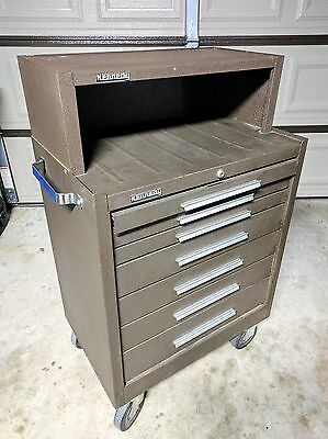 Kennedy Tool Box Roller Cabinet 7-Drawer with Chest Riser