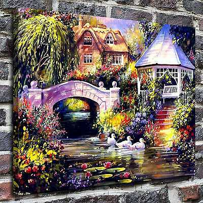 """12""""x16""""Beautiful patio Paintings HD Print on Canvas Home Decor Wall Art Pictures"""