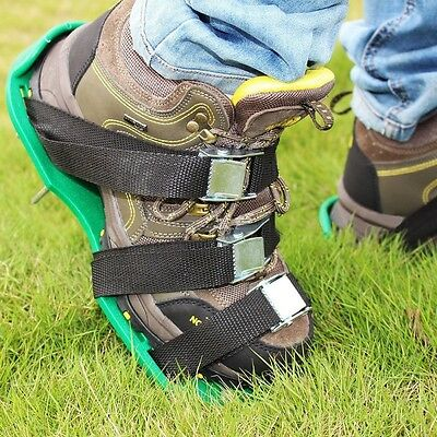 13 x 30cm Lawn Aerator Aerating Shoes Sandals Spikes Per Shoe - Ready Assembled