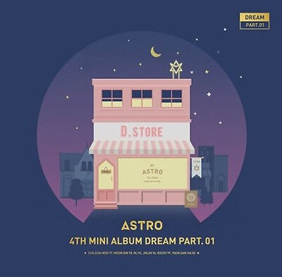 Astro-[Dream Part.01]4th Mini Album Night Ver CD+Booklet+Post+PhotoCard+Gift