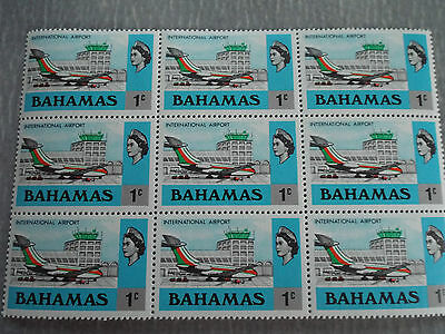 Bloc de 9 timbres neuf BAHAMAS 1971 : International Airport