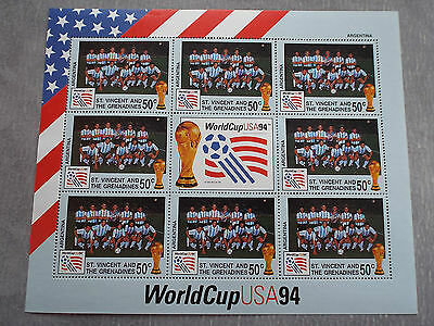 BF Neuf St Vincent et Grenadines WC Football USA 1994 : Equipe d'Argentine