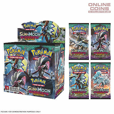 POKEMON TCG Sun & Moon Boosters GUARDIANS RISING Boosters x 4 Packs of 10