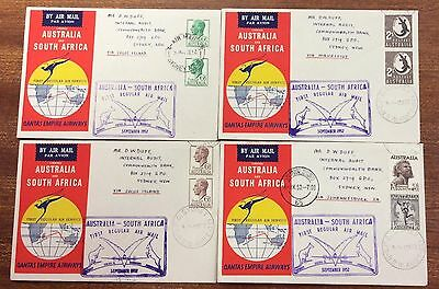 1952 Australia - south Australia Qantas flight covers (4 different)