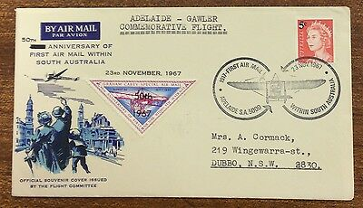 1967 anniversary of 1st airmail within south Australia