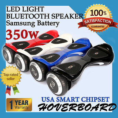 """6.5"""" Two Wheel Bluetooth Balancing Electric Scooter RED BLACK BLUE"""