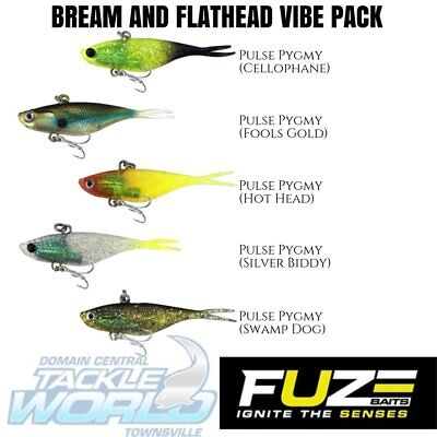 Fuze Pygmy Pulse Vibe Bream and Flathead Value Pack (5 Lures) BRAND NEW