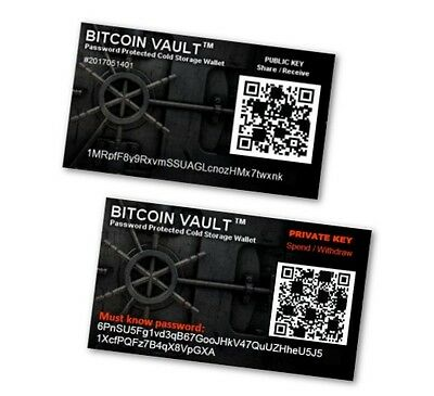Bitcoin Vault  TM - Password Protected Cold Storage Wallet - Nothing Safer!