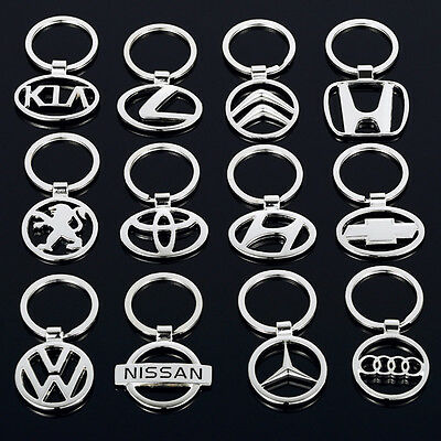 Fashion Mens 3D Hollow Car Logo Metal Keychain Key Chain Pendant Holder Key Ring