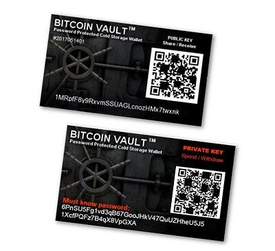 TWO Bitcoin Vaults  TM - Password Protected Cold Storage Wallet - Nothing Safer!