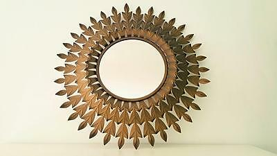 Espejo sol triple espiga / triple spike golden sunburst mirror