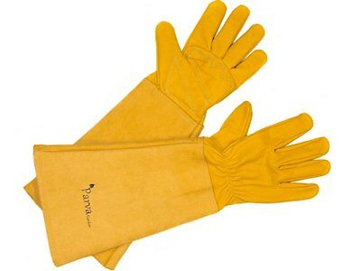 Elbow Length Gardening Gloves Perfect for Pruning Roses & Cactus Leather - SMALL