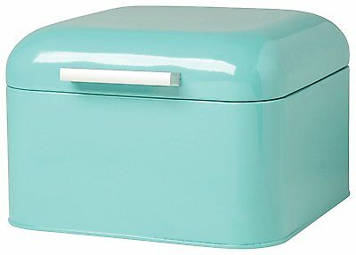 Now Designs Bread Bakery Box Storage For Kitchen Vintage Lid Swing Turquoise New