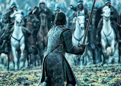 GAME OF THRONES POSTER Jon Snow Battle of the Bastards Poster Photo Print A3 A4