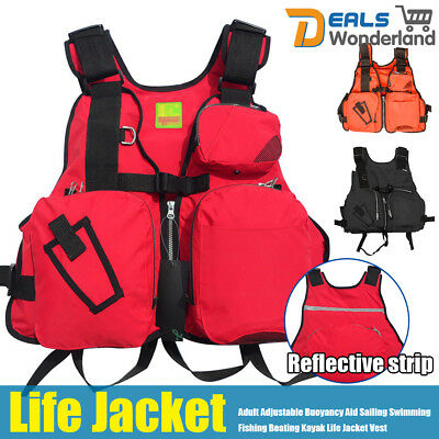 Adult Marine Reflective Sailing Aid Kayak Fishing Boating Ski Life Jacket Vest