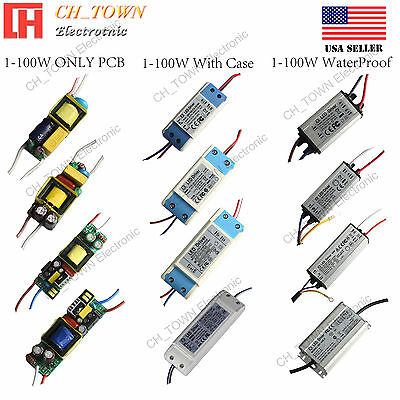 Constant Current LED Driver 3W 10W 20W 30W 50W 100W Waterproof High Power Supply