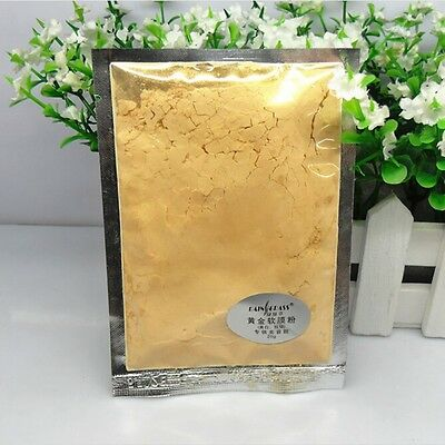 24K Gold Face Mask Whitener Powder Anti-Age Luxury Spa Treatment Skin Care 50g