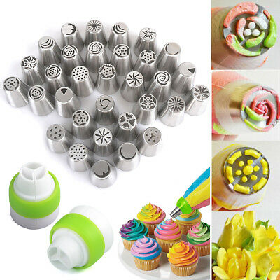 32Pcs Russian Tulip Icing Piping Nozzles pastry tube set decorating tips