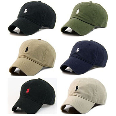 One Size Polo Outdoors Sun Pony Leather Strap Adjustable Baseball Hat Cotton Cap