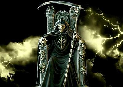 A4 Gothic Grave Photo Picture Print ONLY Wall Art Grim Reaper Poster