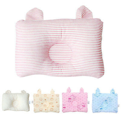Newly Baby Pillow Cartoon/Stripes Newborns Prevent Flat Head Cushion Protector
