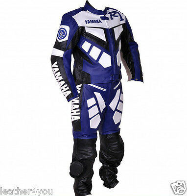 R1 Racing Biker Motorcycle Leather Suit Motorbike Leather Jacket Trouser