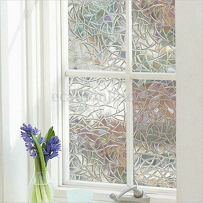 3D No Glue Static Removable Translucent Privacy Window Glass Film Sticker Decor