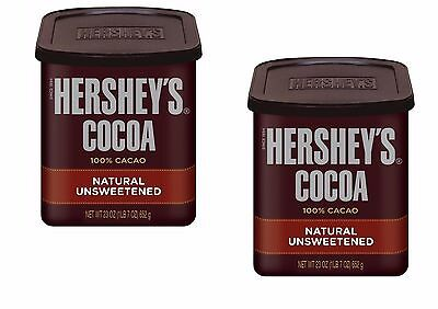 2 x Hershey's Cocoa Powder 652g Tub Natural Unsweetened COCOA US Made
